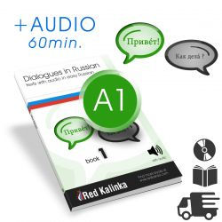 PAPER BOOK: Dialogues in easy Russian + audio: Level A1